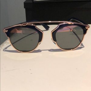 Dior So Real Rose Gold/Blue Rose Gold Sunnies